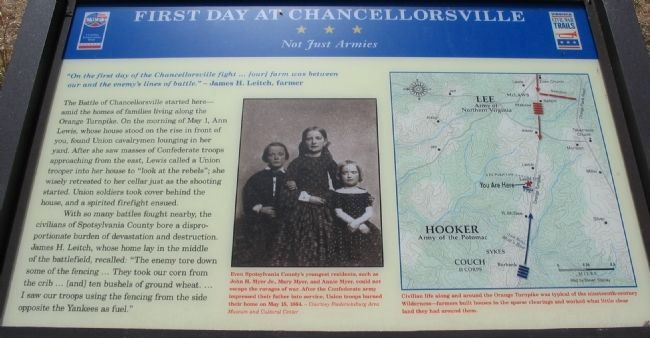 First Day at Chancellorsville Marker Photo, Click for full size