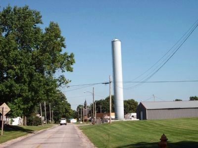 "Looking East as you Enter Indianola - - Water ""Stand Pipe"" image. Click for full size."