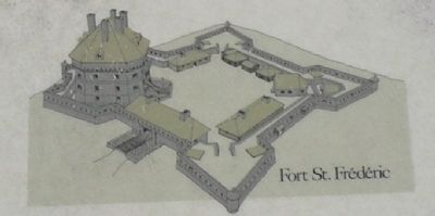 Picture of Fort St. Frédéric from Marker image. Click for full size.