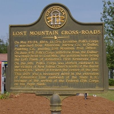 Lost Mountain Cross-Roads Marker image. Click for full size.
