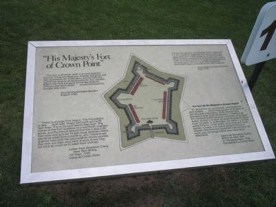 """His Majesty's Fort of Crown Point"" Marker image. Click for full size."