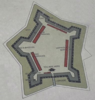 Layout of Crown Point Fort from Marker image. Click for full size.