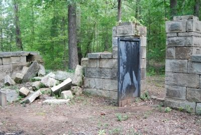 Badwell Cemetery -<br>Interior View of Fallen Wall and Main Gate Photo, Click for full size