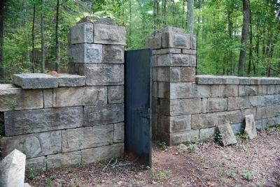 Badwell Cemetery - Interior Gate and Standing Wall Photo, Click for full size