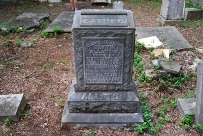 Capt. Joseph Blyth Allston Tombstone Photo, Click for full size