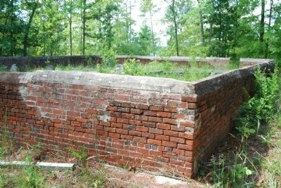 Noble Cemetery Brick Wall image. Click for full size.