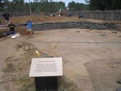 Current Excavation of Fort image. Click for full size.