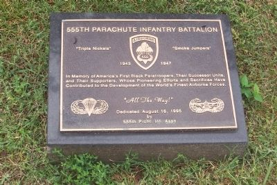 555th Parachute Infantry Battalion Marker Photo, Click for full size