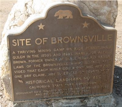 Site of Brownsville Marker image. Click for full size.
