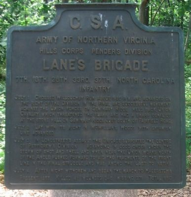 Lane's Brigade Tablet image. Click for full size.