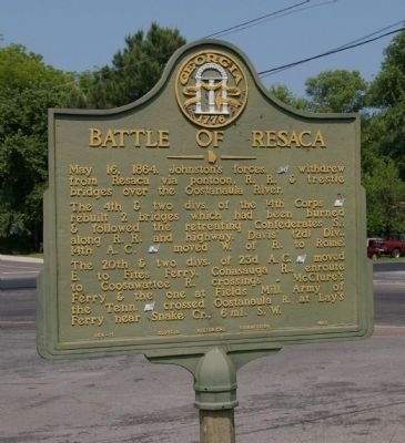 Battle of Resaca Marker image. Click for full size.
