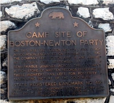Camp Site of Boston-Newton Party Marker image. Click for full size.