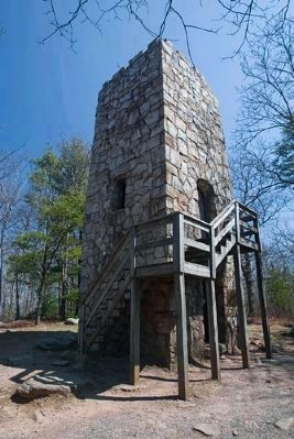 Fort Mountain State Park Stone Tower and Marker image. Click for full size.