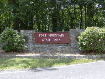 Fort Mountain State Park Entrance image. Click for full size.