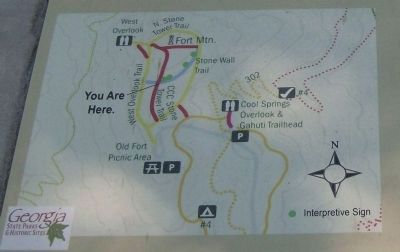 Fort Mountain Trail Map Photo, Click for full size