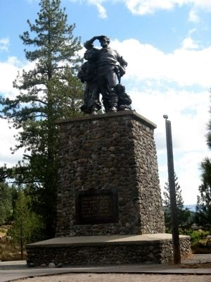 Donner Party Monument image. Click for full size.