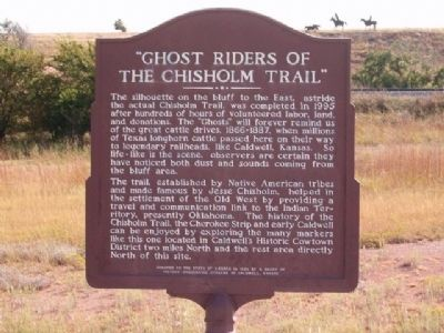 Ghost Riders of the Chisholm Trail Marker image. Click for full size.