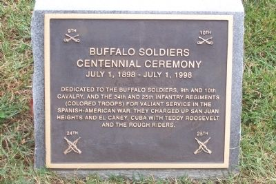 Buffalo Soldiers Marker image. Click for full size.