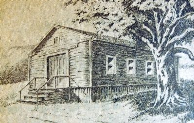 Sketch of First Grange Hall Building image. Click for full size.