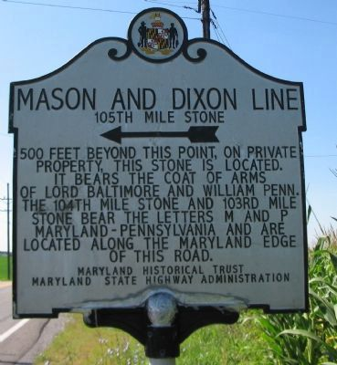Mason and Dixon Line Marker Photo, Click for full size