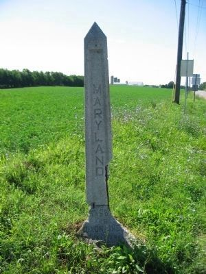 Modern Concrete Mason - Dixon Road Marker Photo, Click for full size