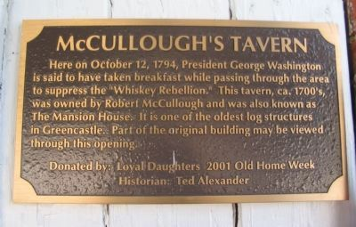 McCullough's Tavern Marker image. Click for full size.