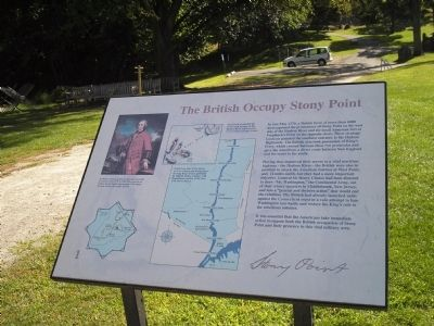 The British Occupy Stony Point Marker image. Click for full size.