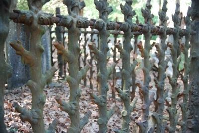 Detail of Iron Fence Work Surrounding a Grave image. Click for full size.