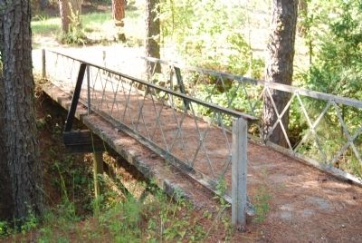 Bridge Leading to Long Canes Massacre Marker Photo, Click for full size