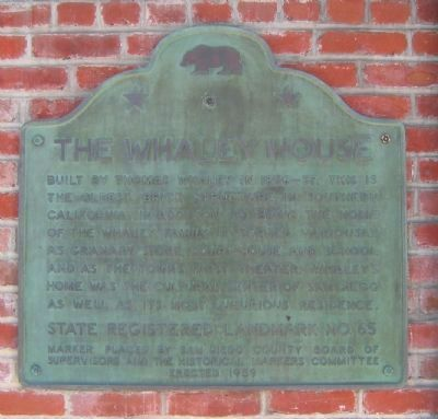 The Whaley House Marker image. Click for full size.