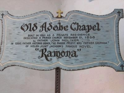 Adobe Chapel of The Immaculate Conception Marker image. Click for full size.