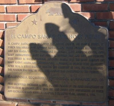 El Campo Santo (The Holy Field) Marker image. Click for full size.