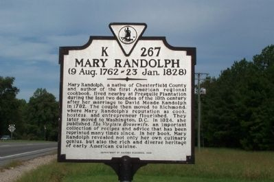 Mary Randolph Marker image. Click for full size.