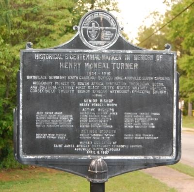 Henry McNeal Turner Marker image. Click for full size.