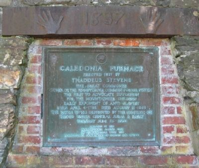 Caledonia Furnace Marker image. Click for full size.
