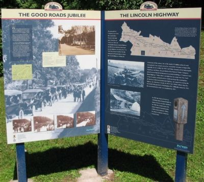 The Good Roads Jubilee / The Lincoln Highway Marker image. Click for full size.