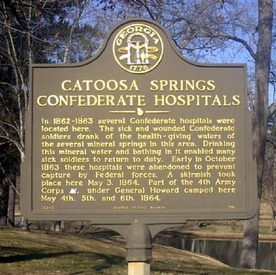 Catoosa Springs Confederate Hospitals Marker Photo, Click for full size
