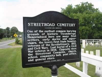 Streetroad Cemetery Marker image. Click for full size.