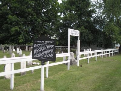 Streetroad Cemetery and Marker image. Click for full size.