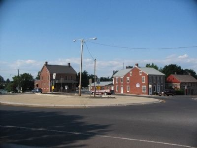 Traffic Circle at the Town Square of Abbottstown image. Click for full size.