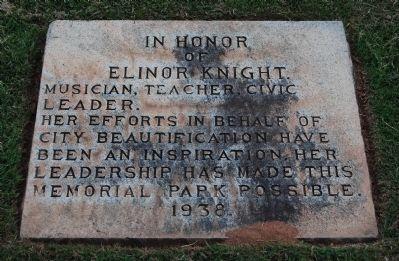 In Honor of Elinor Knight Marker image. Click for full size.