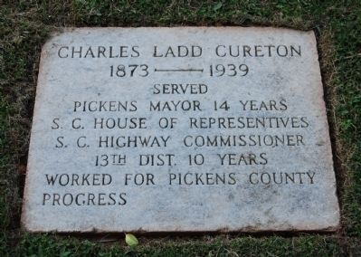 Charles Ladd Cureton Marker image. Click for full size.