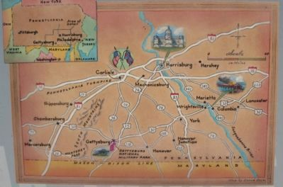 Map on the Prelude to Gettysburg Side Photo, Click for full size