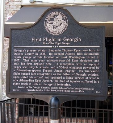 First Flight in Georgia Marker image. Click for full size.