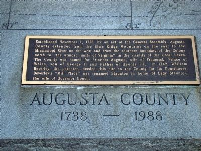 Augusta County Marker image. Click for full size.