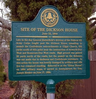Site of the Dickson House Marker Photo, Click for full size