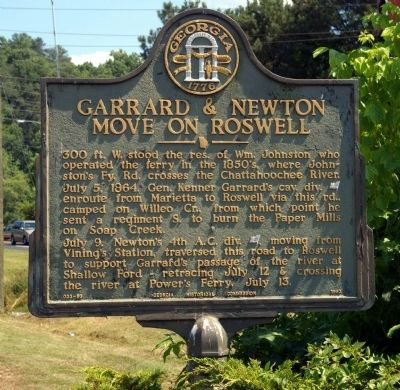 Garrard & Newton Move on Roswell Marker image. Click for full size.