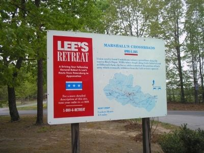 Marshall�s Crossroads Marker on Lee�s Retreat image. Click for full size.