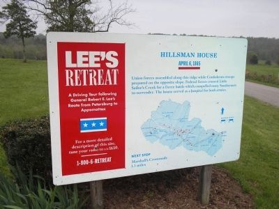 Hillsman House Marker on Lee's Retreat image. Click for full size.