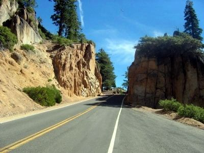 A Section of the Current Alignment of the Sonora-Mono Road (Sonora Pass) Photo, Click for full size